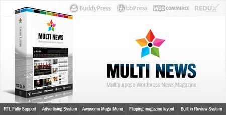 پوسته خبری و مجله فارسی مولتی نیوز Multinews نسخه 2.5.9