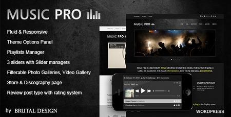 دانلود قالب سایت آهنگ Music Pro برای وردپرس