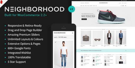 پوسته فروشگاهی ووکامرس Neighborhood نسخه 2.0