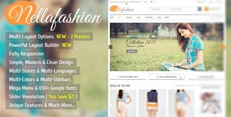 دانلود قالب فروشگاهی مد و زیبایی Nella Fashion برای PrestaShop