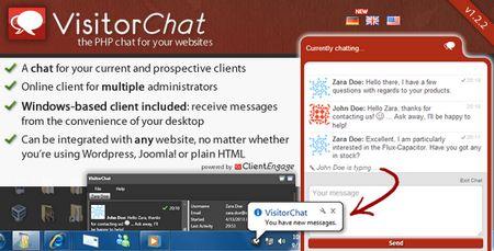 اسکریپت چت و پشتیبانی آنلاین مشتری VisitorChat نسخه 1.2.2