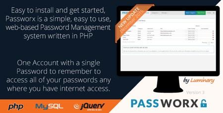 اسکریپت مدیریت رمز عبور Passworx نسخه 3.0