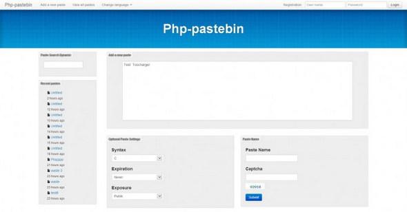 دانلود اسکریپت خدماتی php Pastebin نسخه 3
