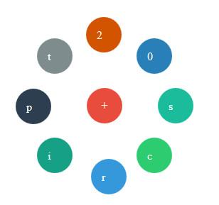 منوی دایره ای متحرک با طراحی انیمیشنی