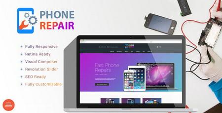پوسته وردپرس خدمات تعمیرات موبایل و کامپیوتر Phone Repair