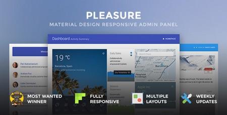 دانلود قالب HTML مدیریت وب سایت Pleasure نسخه 1.5