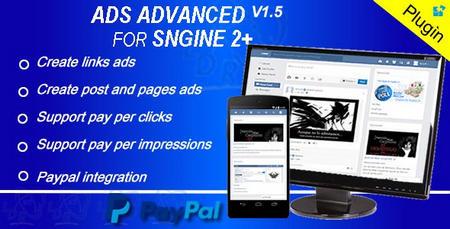 افزونه مدیریت تبلیغات Ads Advanced برای Sngine