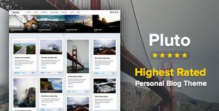 دانلود قالب شخصی و وبلاگی Pluto برای وردپرس