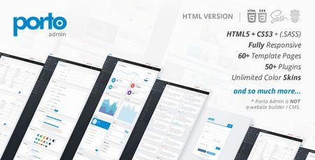 قالب HTML مدیریت وب سایت Porto Admin نسخه 1.4.1