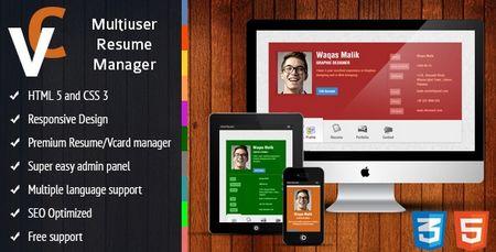 اسکریپت ایجاد و مدیریت رزومه حرفه ای Premium نسخه 1.3