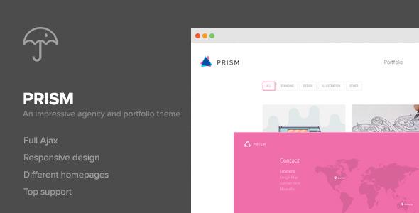 دانلود قالب نمونه کار Prism برای وردپرس