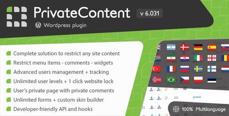 افزونه فارسی مخفی سازی مطالب از کاربران PrivateContent نسخه 7.221 + افزودنی ها