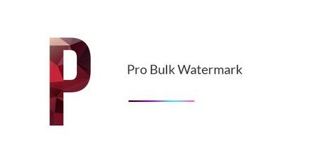 افزونه قرار دادن واترمارک در وردپرس Pro Bulk Watermark
