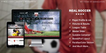 دانلود قالب وردپرس باشگاه ورزشی Real Soccer