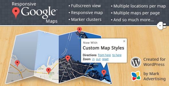 افزونه واکنش گرا Google Map برای وردپرس