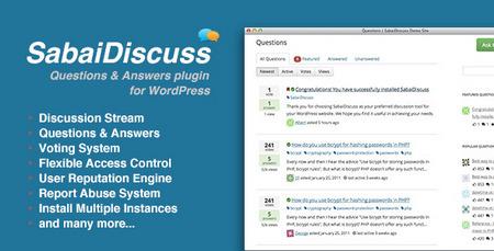افزونه پرسش و پاسخ حرفه ای Sabai Discuss نسخه 1.3.1