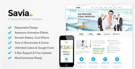 پوسته شرکتی Savia نسخه ۱٫۲ برای وردپرس