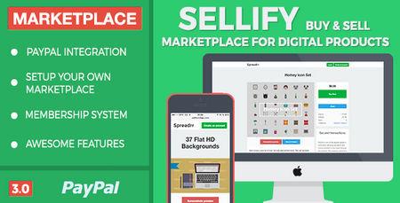 اسکریپت اشتراک گذاری و فروش فایل Sellify نسخه 3.0