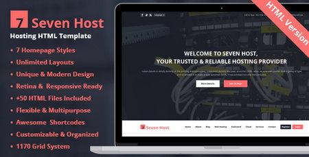 قالب میزبانی هاستینگ Seven Host به صورت HTML