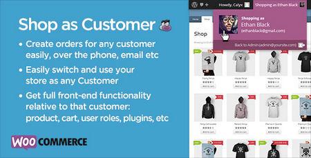 ورود مدیر فروشگاه به عنوان مشتری ووکامرس Shop as Customer