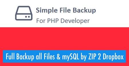 اسکریپت پشتیبان گیری ساده فایل ها و MySql با استفاده از PHP