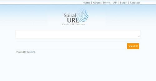 اسکریپت کوتاه کننده لینک SpiralURL