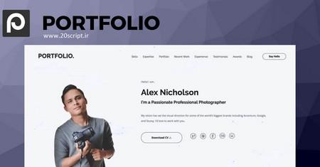 پوسته شخصی و نمونه کار وردپرس SitePoint Portfolio