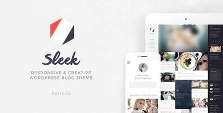 قالب وبلاگی و خلاقانه Sleek نسخه 1.4.10 برای وردپرس