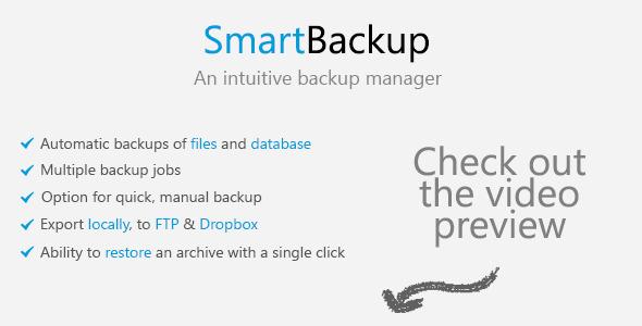 اسکریپت پشتیبان گیری وب سایت SmartBackup v1.1.1