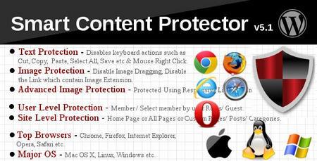 افزونه جلوگیری از کپی متن و تصاویر در وردپرس Smart Content Protector
