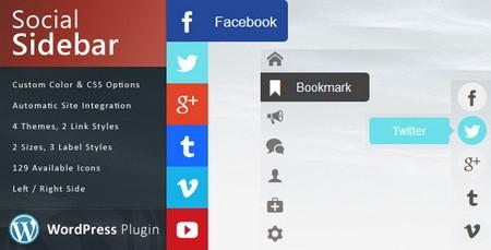 افزونه اشتراک گذاری حرفه ای مطالب Social Sidebar در وردپرس