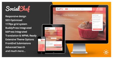 دانلود قالب مجله آموزشی آشپزی SocialChef برای وردپرس