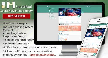 اسکریپت شبکه اجتماعی SocialMat نسخه ۱٫۶٫۲