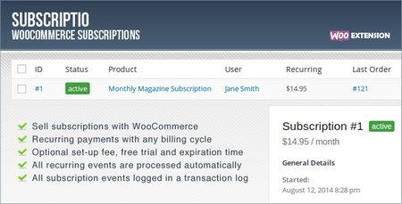 افزونه عضویت در فروشگاه ساز ووکامرس Subscriptio نسخه 1.0.6