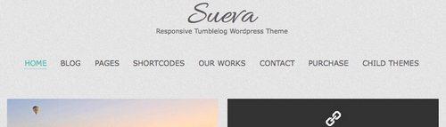 قالب وبلاگی و شخصی Sueva برای وردپرس