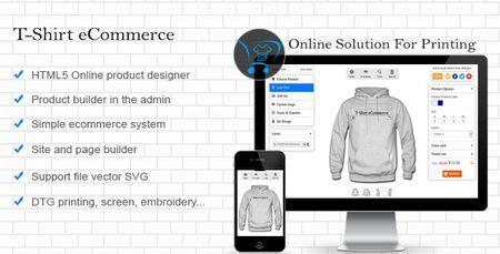 اسکریپت طراحی آنلاین تی شرت T-Shirt eCommerce نسخه ۱٫۱٫۱