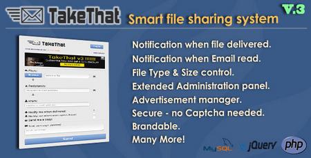 TakeThat file sharing system V.3 اسکریپت اشتراک گذاری فایل TakeThat v.3