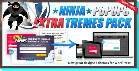 افزونه تمز پک نینجا پاپ آپز Themes Pack for Ninja Popups نسخه 1.2