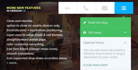 افزونه ایجاد منو های حرفه ای برای موبایل در ودرپرس Touchy