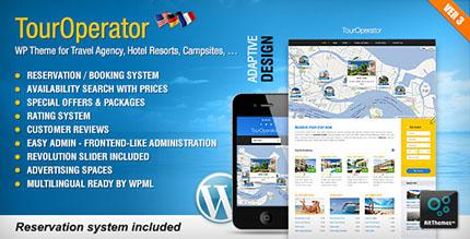 پوسته وردپرس با سیستم رزرو هتل و تور Tour Operator نسخه 3.3