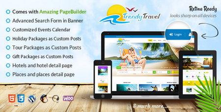 دانلود قالب اندروید کده برای رزبلاگقالب مسافرتی و تور با Trendy Travel برای وردپرس
