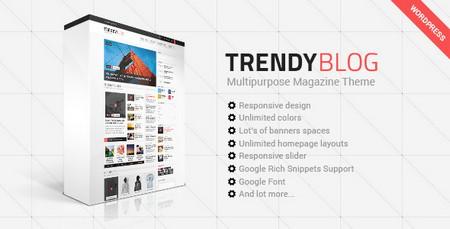 دانلود قالب مجله ای و چندمنظوره TrendyBlog برای وردپرس