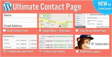 افزونه تماس باما حرفه ای با Ultimate Contact Page برای وردپرس