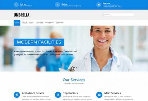 قالب وردپرس پزشکی و سلامت Umbrella فارسی