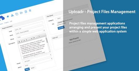 اسکریپت مدیریت فایل های پروژه Uploadr