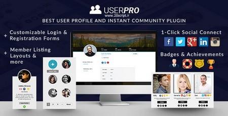 افزونه فارسی یوزر پرو UserPro نسخه ۴٫۹٫۲۹