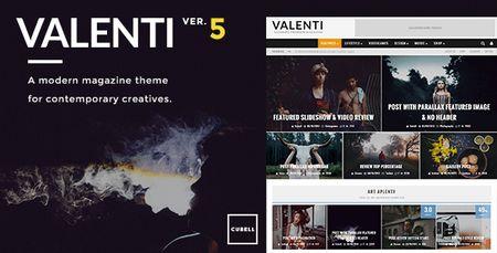 دانلود پوسته مجله ای Valenti نسخه 5.1.2 برای وردپرس
