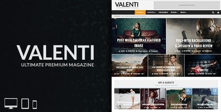 دانلود پوسته مجله ای و زیبای Valenti برای وردپرس