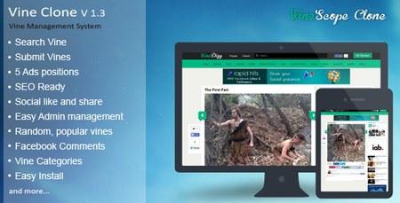 اسکریپت راه اندازی شبکه اجتماعی VineScope نسخه 1.3