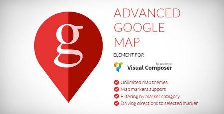 افزونه پیشرفته نقشه گوگل برای ویژوال کامپوسر Advanced Google Map نسخه 1.4.4
